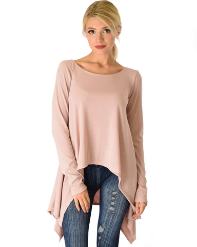 Shift and Swing Long Sleeve Mauve Tunic Top