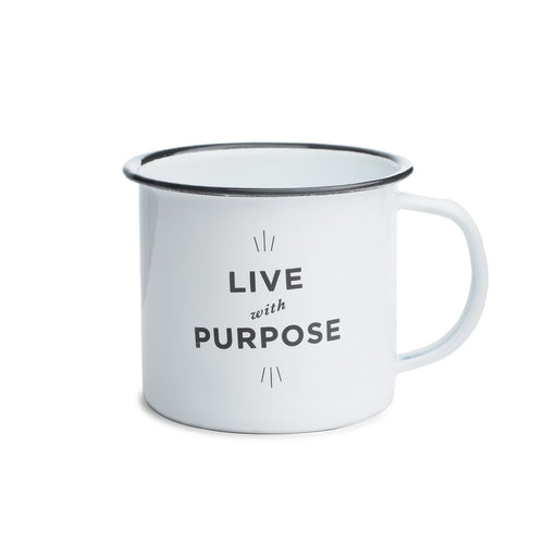 Live With Purpose Enamel Camp Mug
