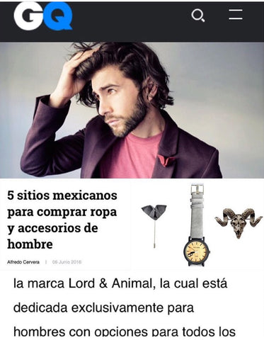 LORD & ANIMAL featured in GQ