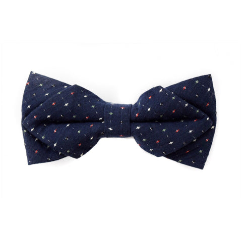 NAVY DIAMOND BOWTIE