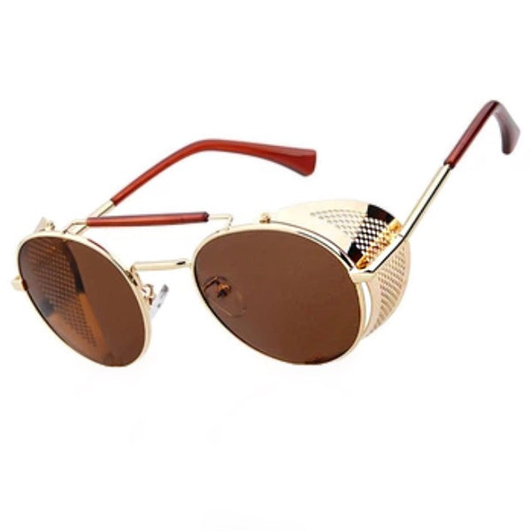 GOLDEN METALIC ARMOR SUNGLASSES