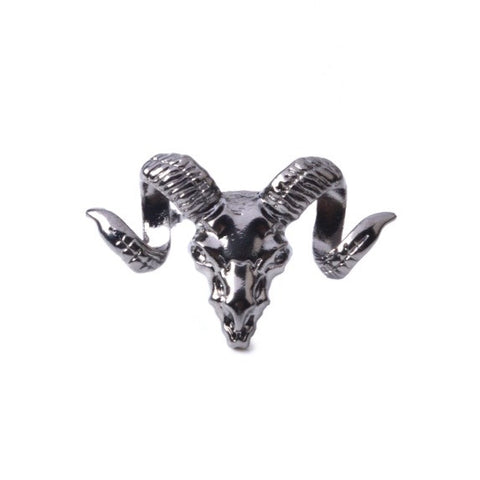 GUN BLACK ANIMAL SKULL PIN