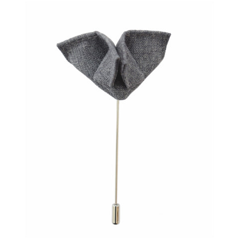 GRAY BUTTERFLY BOUTONNIERE