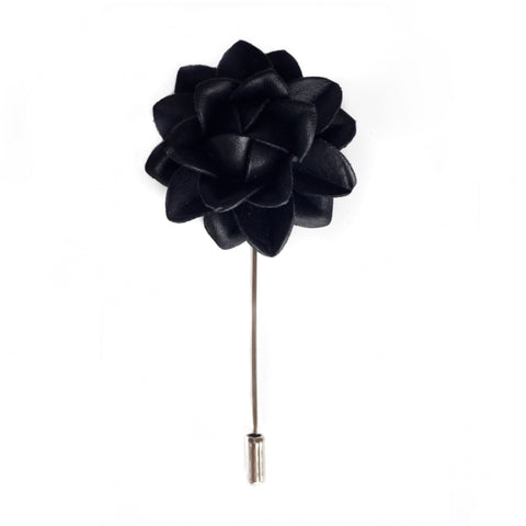 BLACK LEATHER  BOUTONNIERE