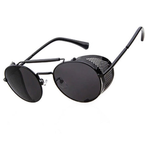 BLACK METALIC ARMOR SUNGLASSES