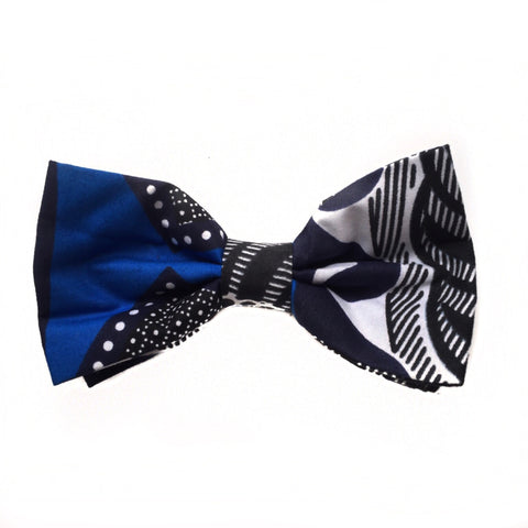 ROYAL BLUE AFRICAN BOW TIE