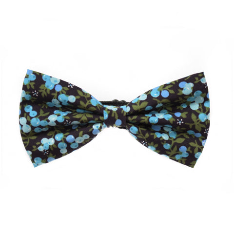 GREEN/BLUE FLORAL BOW TIE