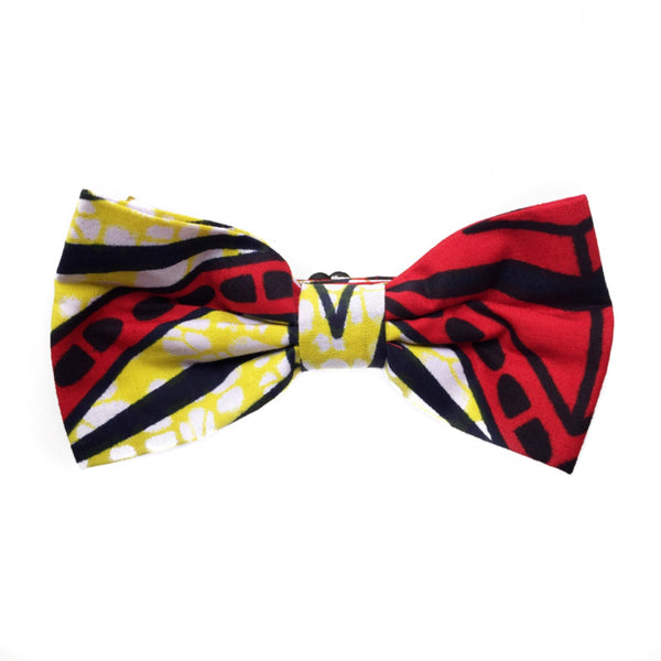 RED & YELLOW AFRICAN BOWTIE