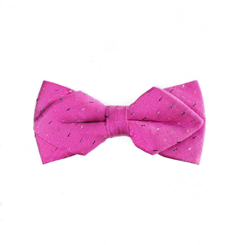 HOT PINK DIAMOND BOW TIE