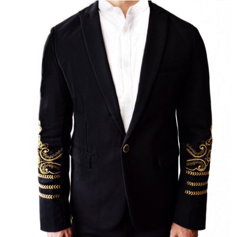 EMBROIDED VERONA BLAZER (ULTRA SKINNY)