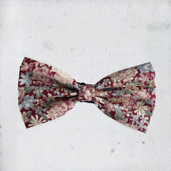 BERRIES FLORAL BOW TIE