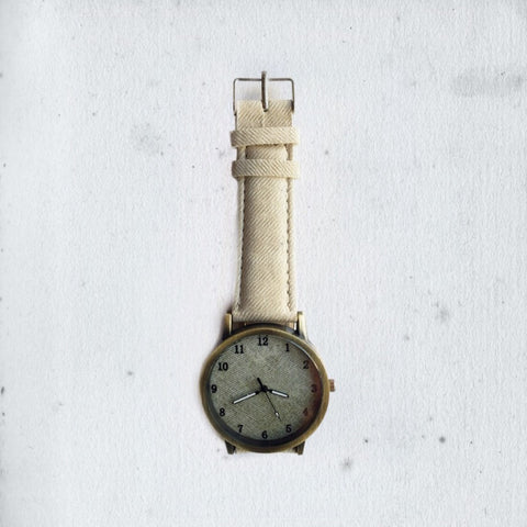 WORN OUT DENIM CHAMPAGNE WATCH
