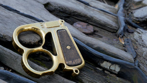Mauser Knuck Brass with Walnut Grips