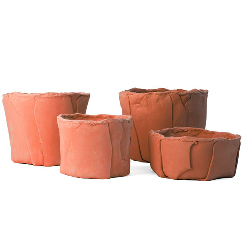 Slab Built Containers in Terracotta