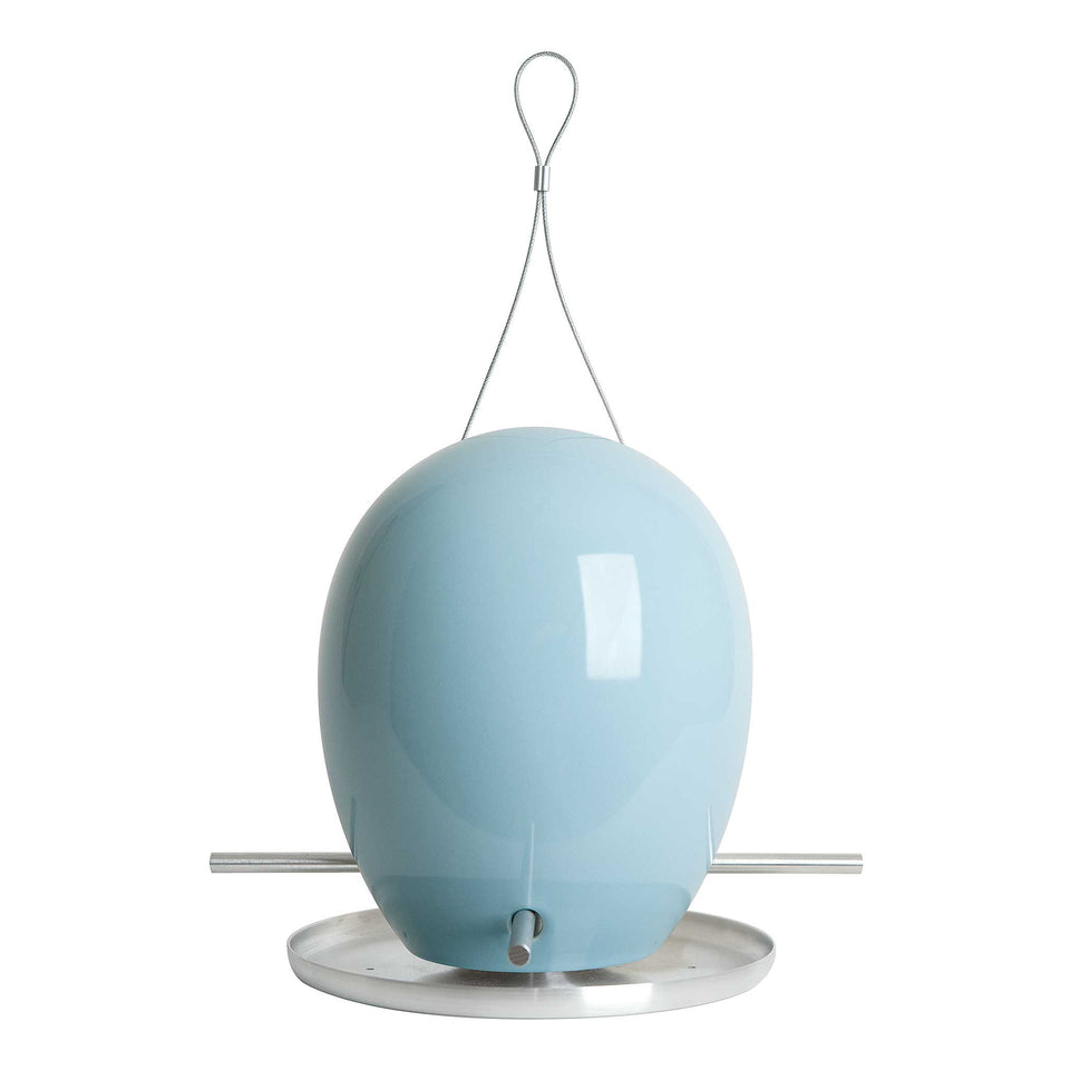 J Schatz Light Aqua Egg Bird Feeder
