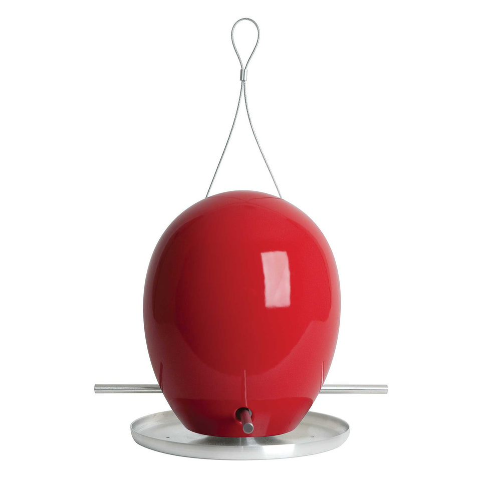 J Schatz Sumac Red Egg Bird Feeder