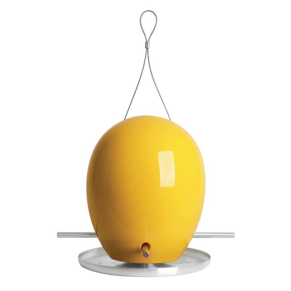 J Schatz Goldenrod Yellow Egg Bird Feeder
