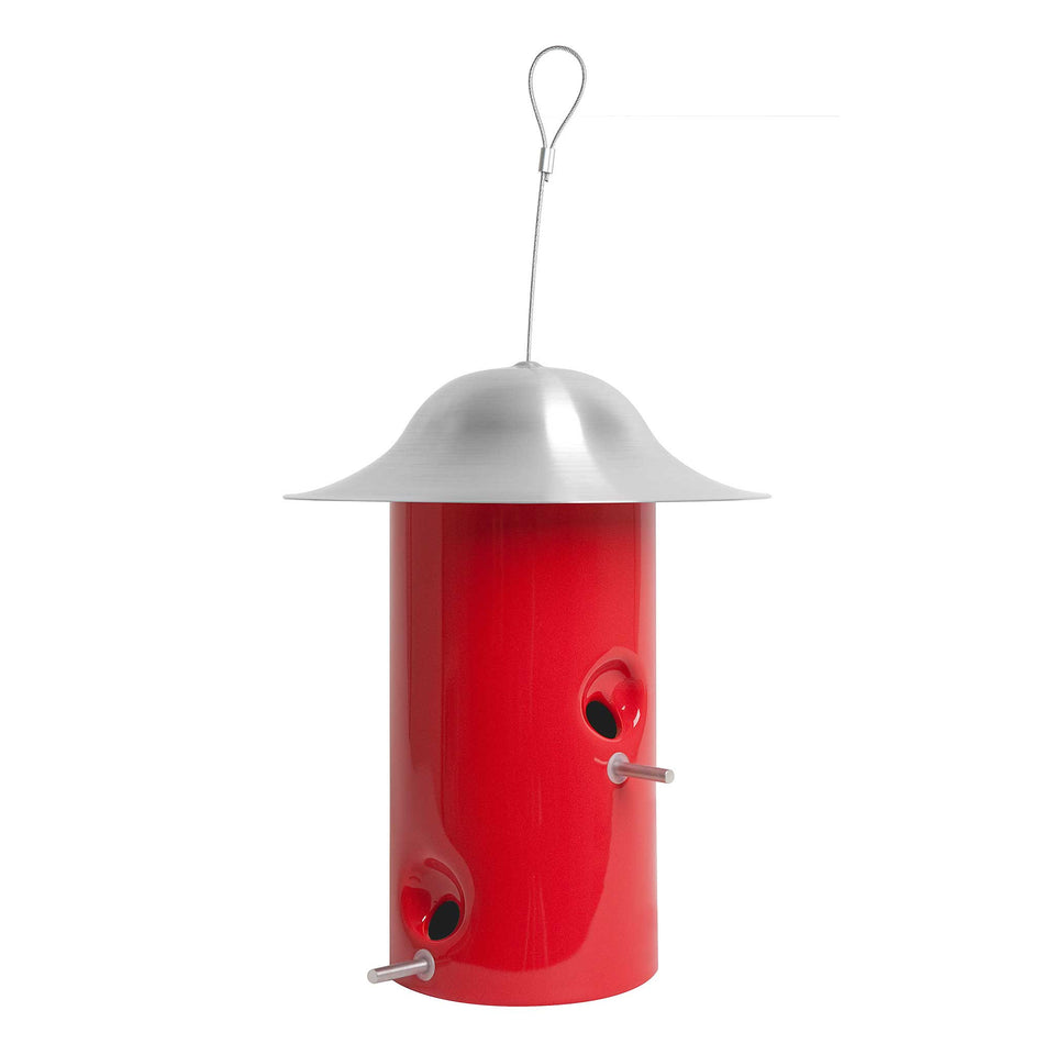 J Schatz Sumac Red Bistro Bird Feeder