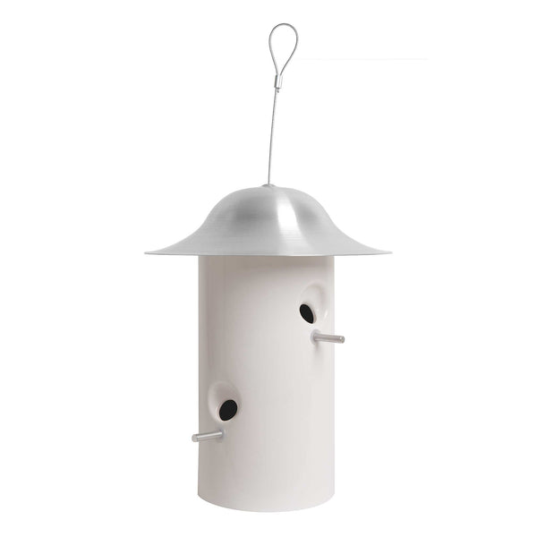 J Schatz Bright White Bistro Bird Feeder