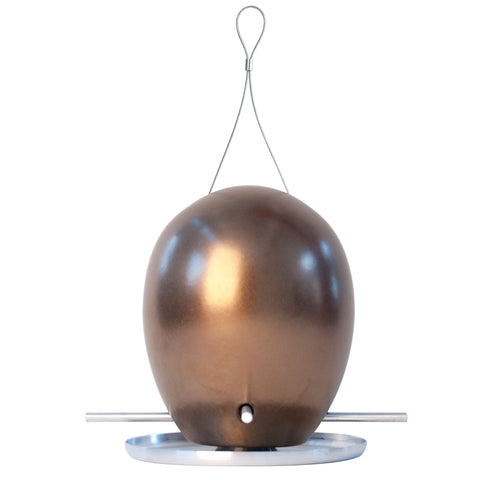 J Schatz Egg Bird Feeder in Bronze
