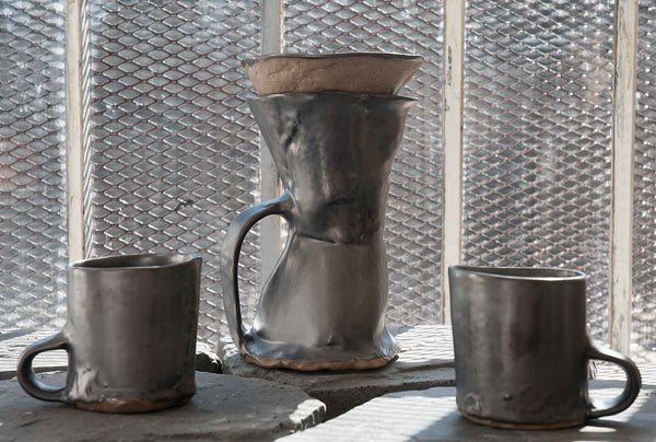 J Schatz Brutal Coffeemakers and Mugs in Studio