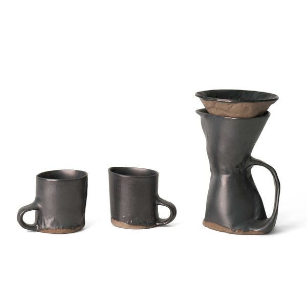 J Schatz Brutal Coffeemaker and Two Mug Set