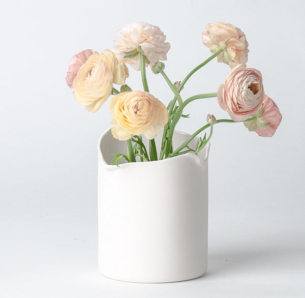 Cilindro Vase with Flowers
