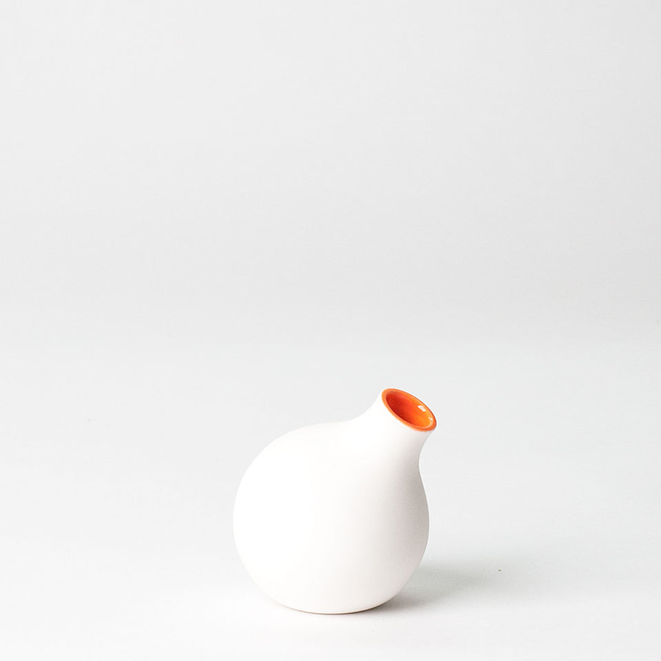 Circulo Bud Vase Angled - Fire Orange