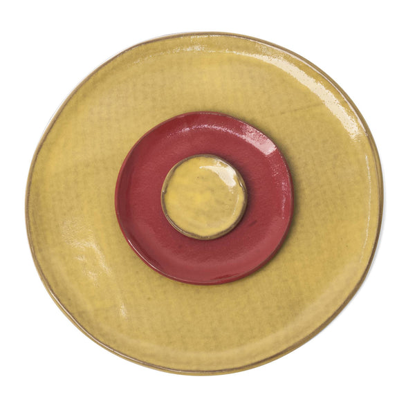 Yellow Red Place Setting