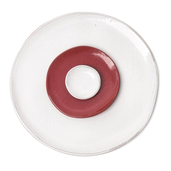 White Red Place Setting