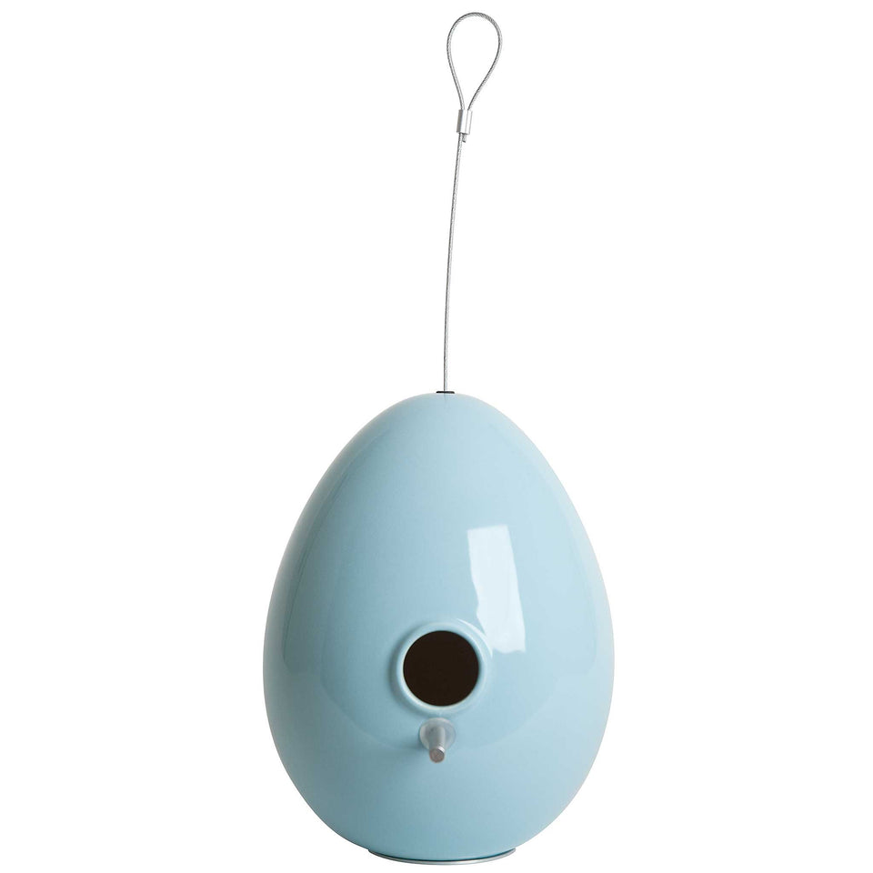J Schatz Light Aqua Egg Bird House