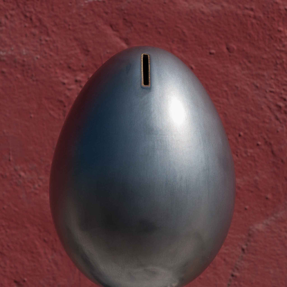 J Schatz Earth Metallic Black Egg Bank Detail