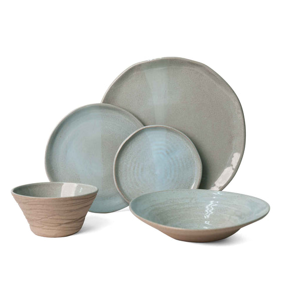 J Schatz JS 157 Stoneware Tableware Set in Light Aqua