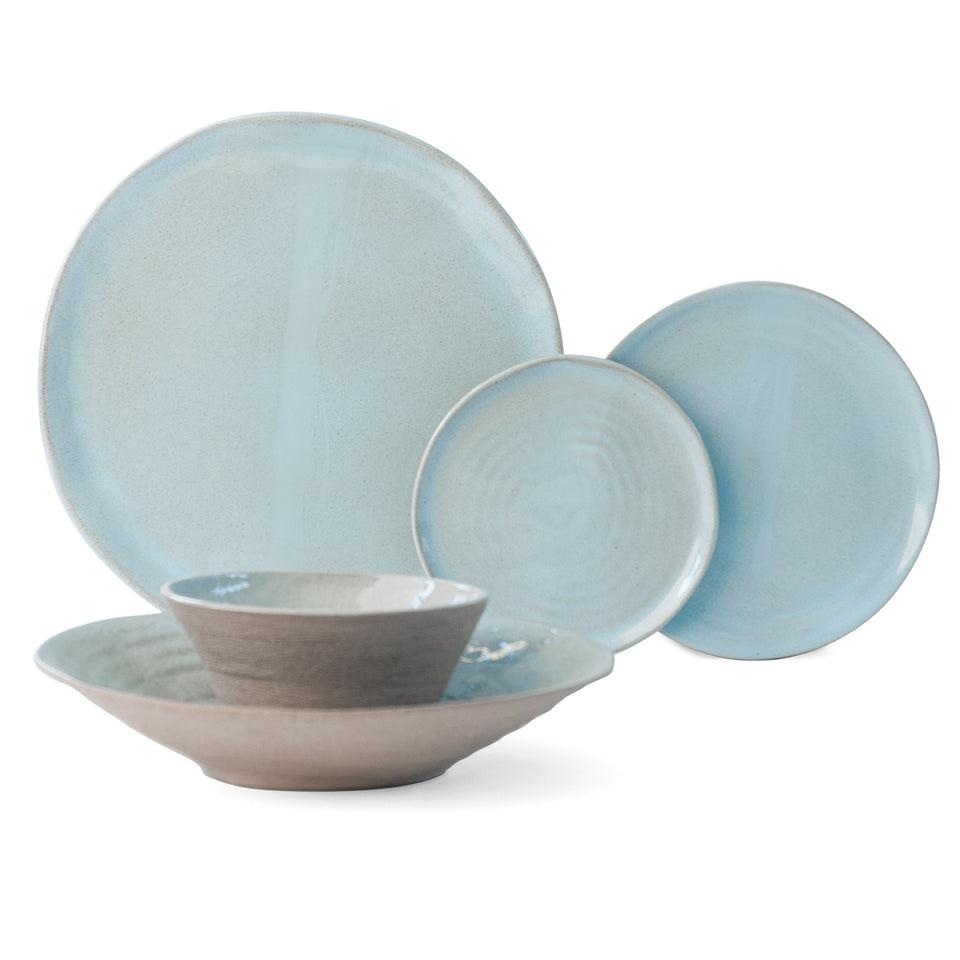 JS 157 Light Aqua Tableware 5 Piece Set