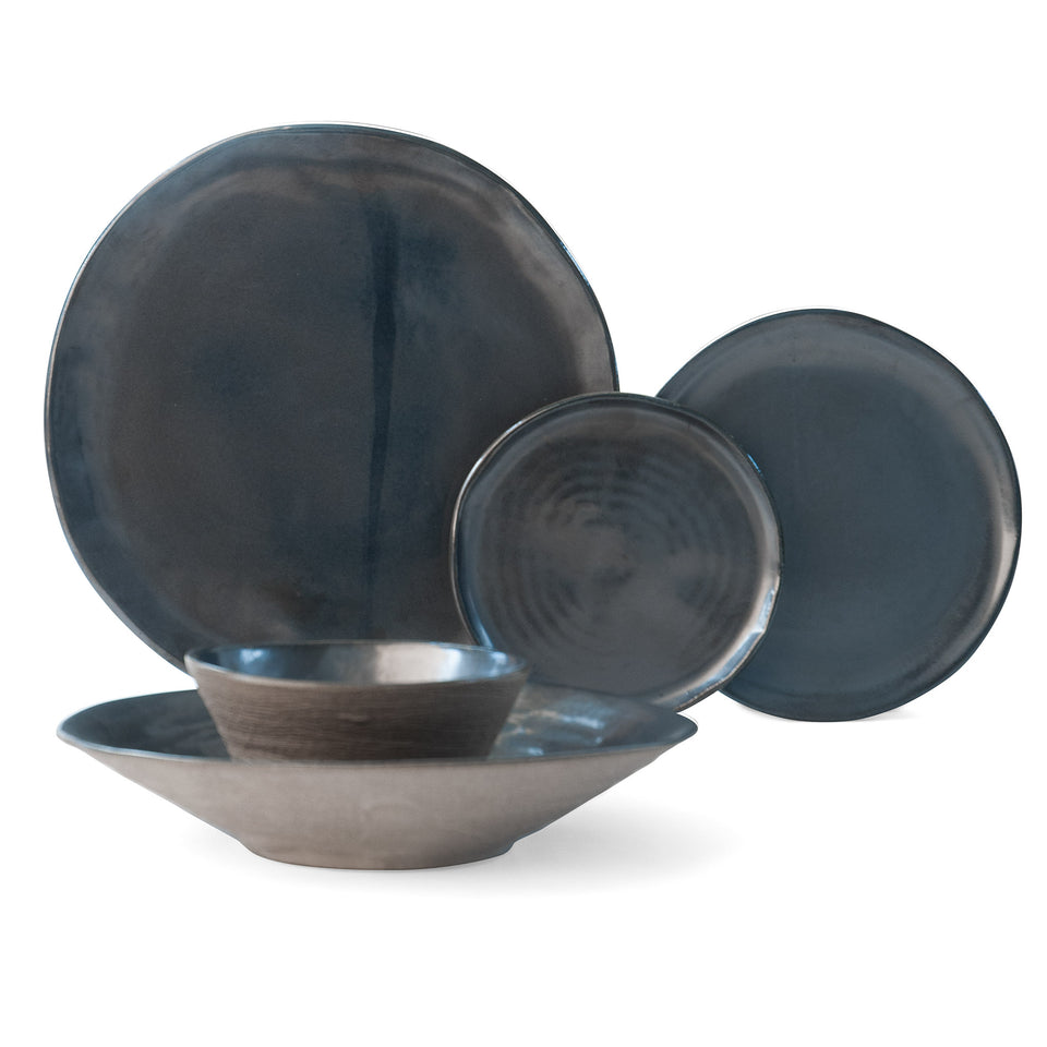 JS 157 Metallic Black Tableware 5 Piece Set