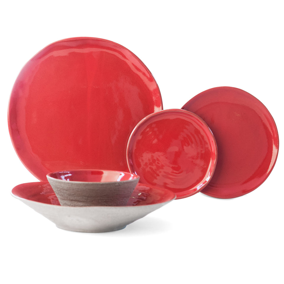 JS 157 Sumac Red Tableware 5 Piece Set