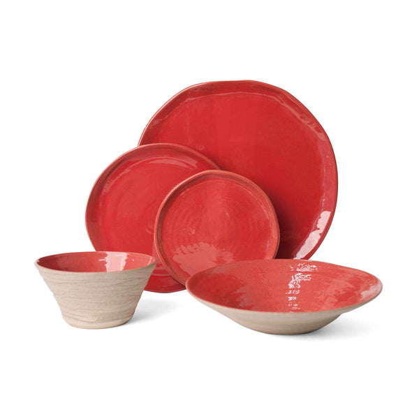 J Schatz JS 157 Stoneware Tableware Set in Sumac Red