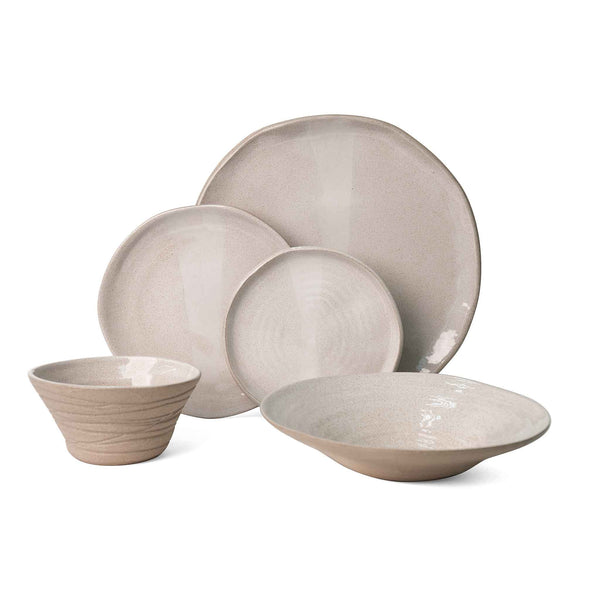 J Schatz JS 157 Stoneware Tableware Set in Bright White