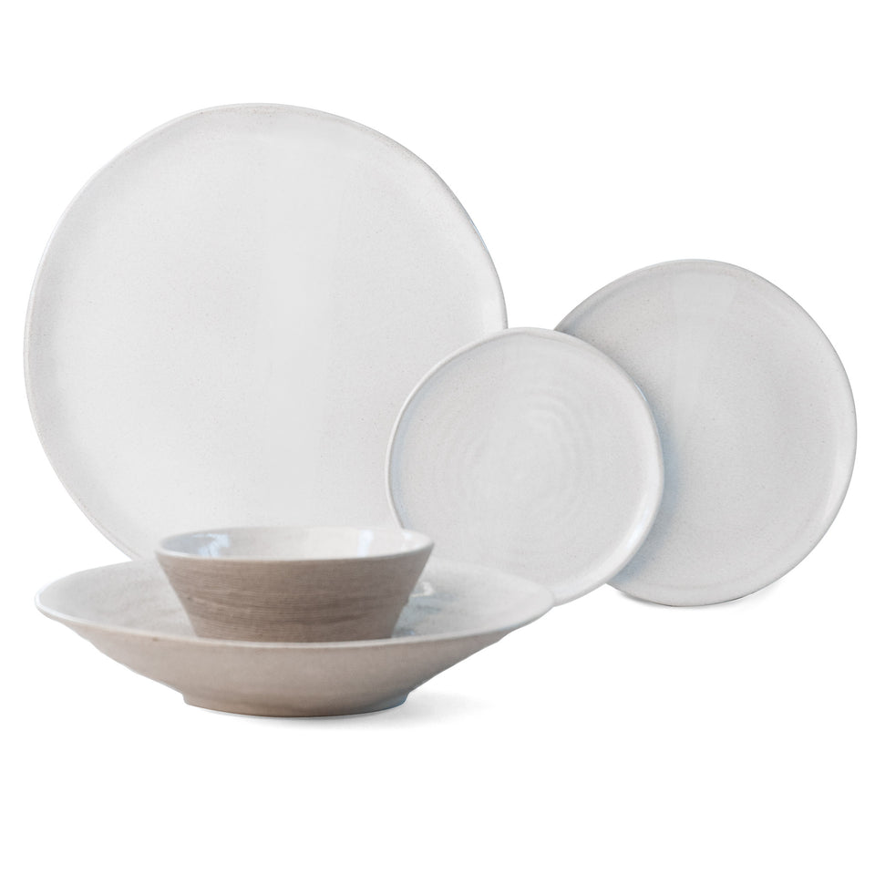 JS 157 White Tableware 5 Piece Set