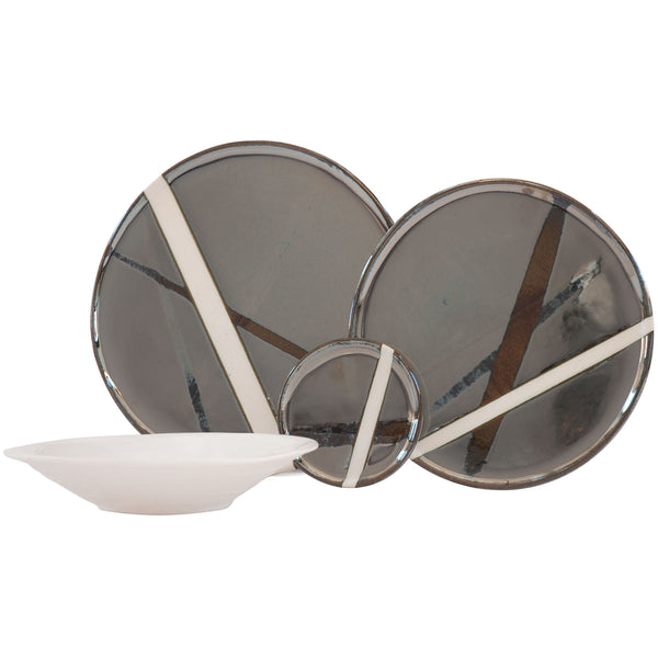 JS 158 Platinum Sketch Tableware Set
