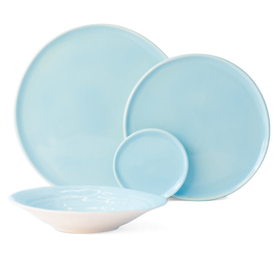 JS 158 Light Aqua Tableware Set of 4