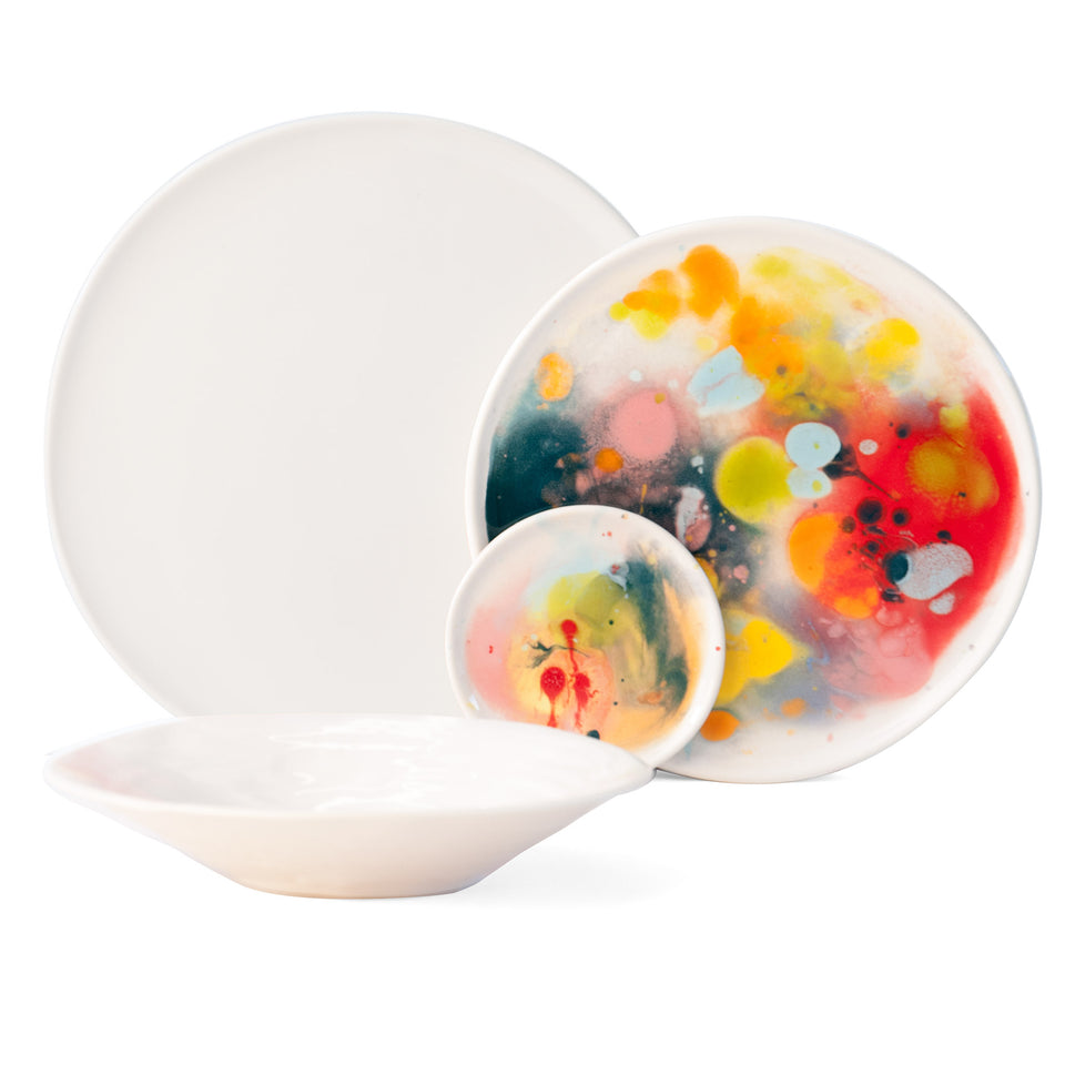 JS 158 Watercolor Tableware Set of 4