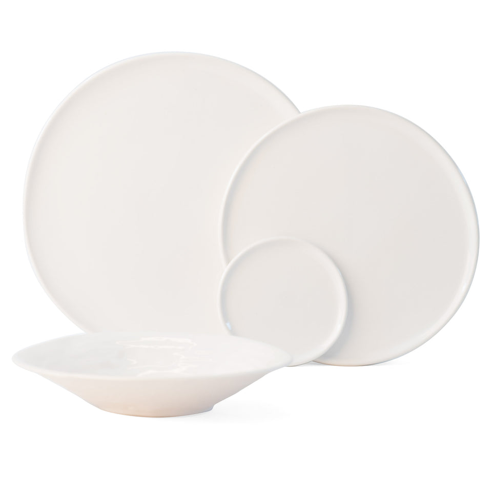 JS 158 Bright White Tableware Set of 4