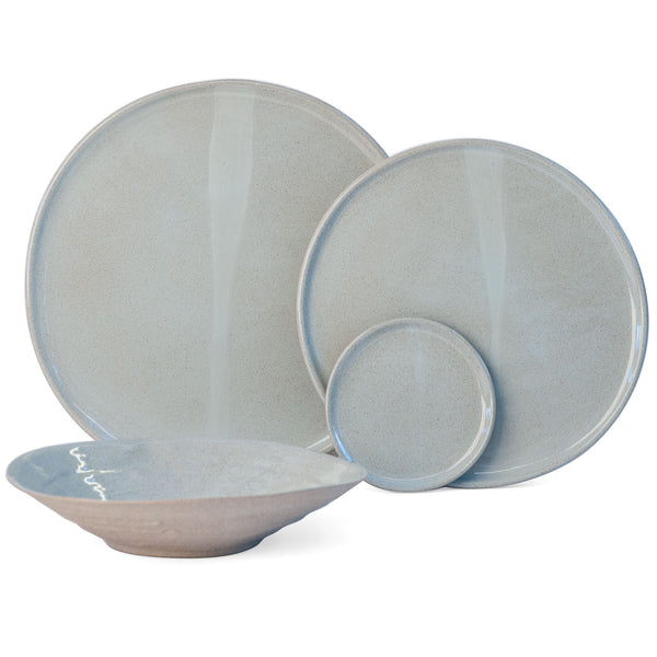 JS 159 Light Aqua Speckled Stoneware Tableware Set