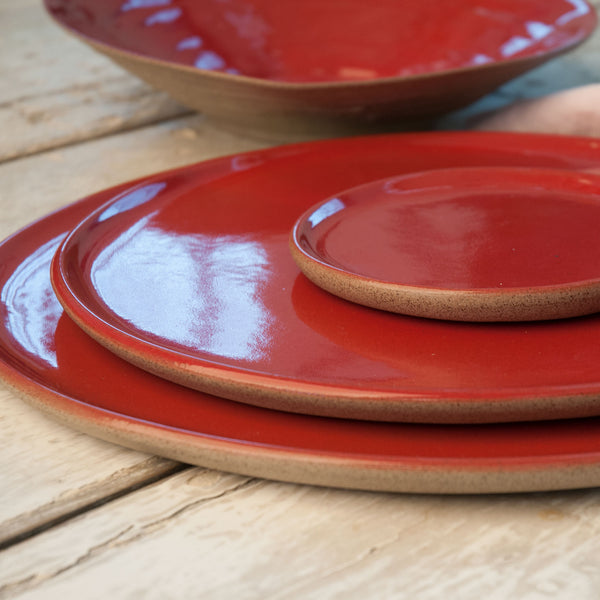 JS 159 Sumac Red Speckled Stoneware Tableware Set Detail 2
