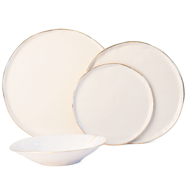 JS 160 Slab Built Gold Tableware Set
