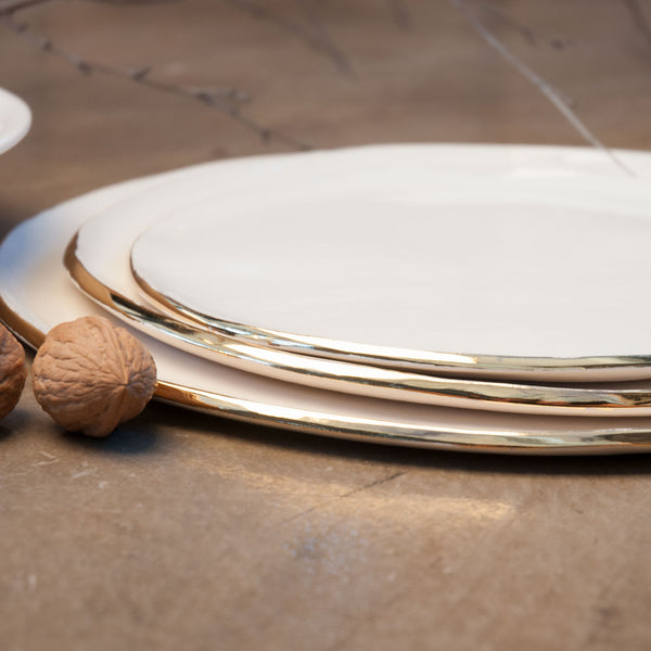 JS 160 Slab Built Gold Tableware Detail 1