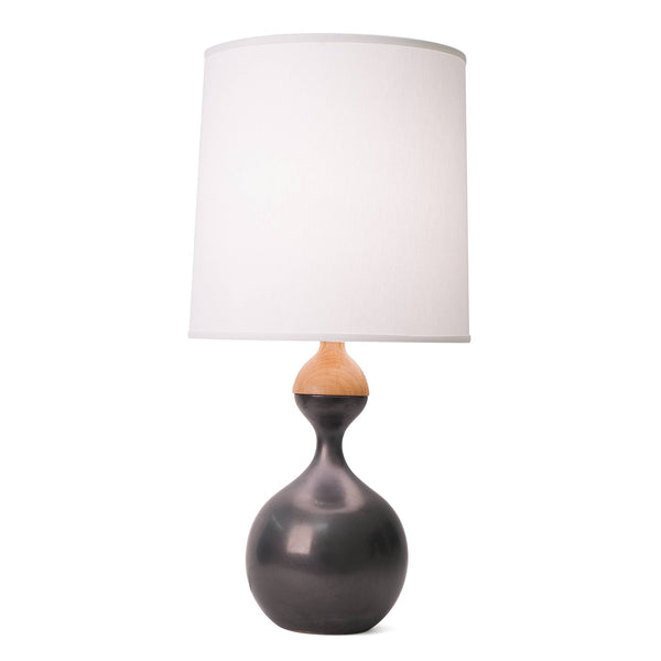 J Schatz Large Metallic Black Kuni Juu Table Lamp