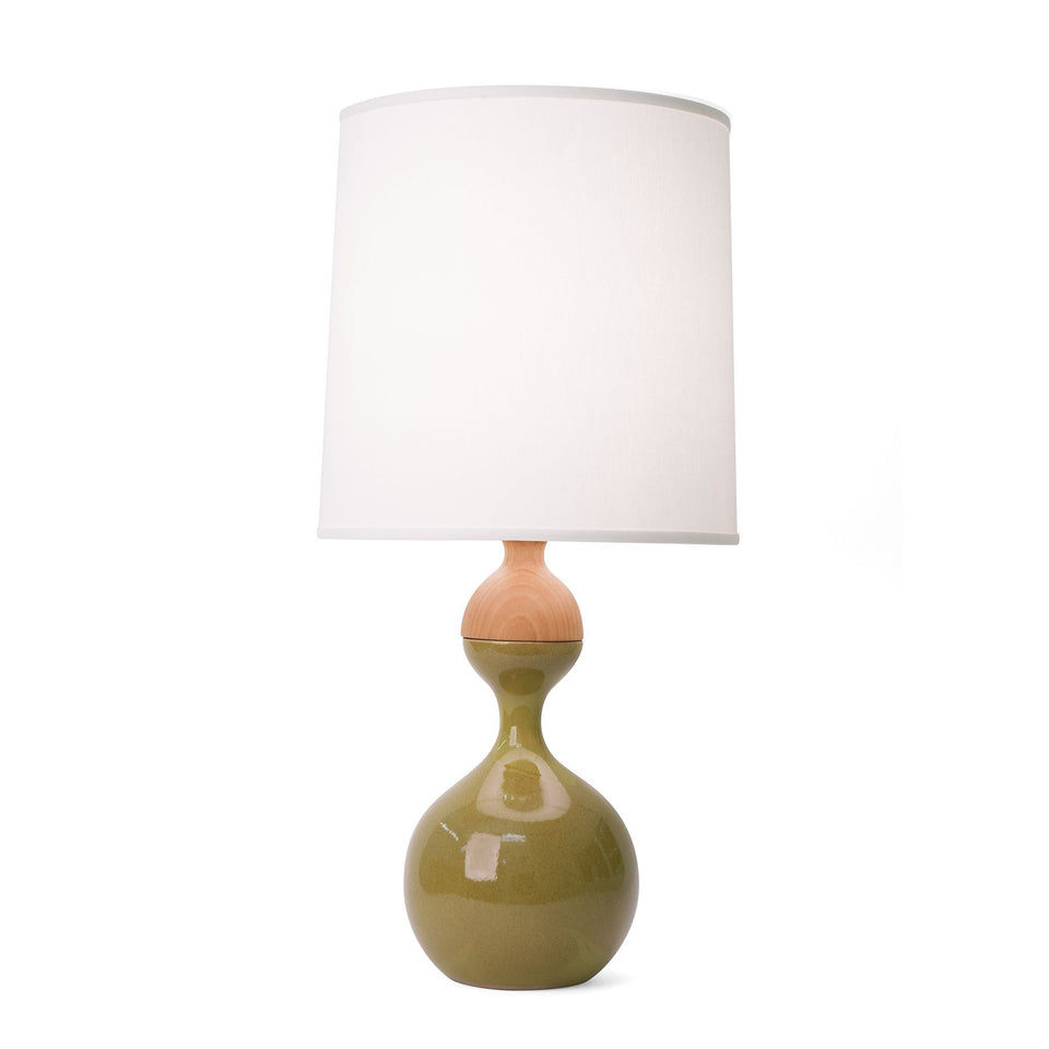 J Schatz Medium Moss Green Kuni Juu Table Lamp