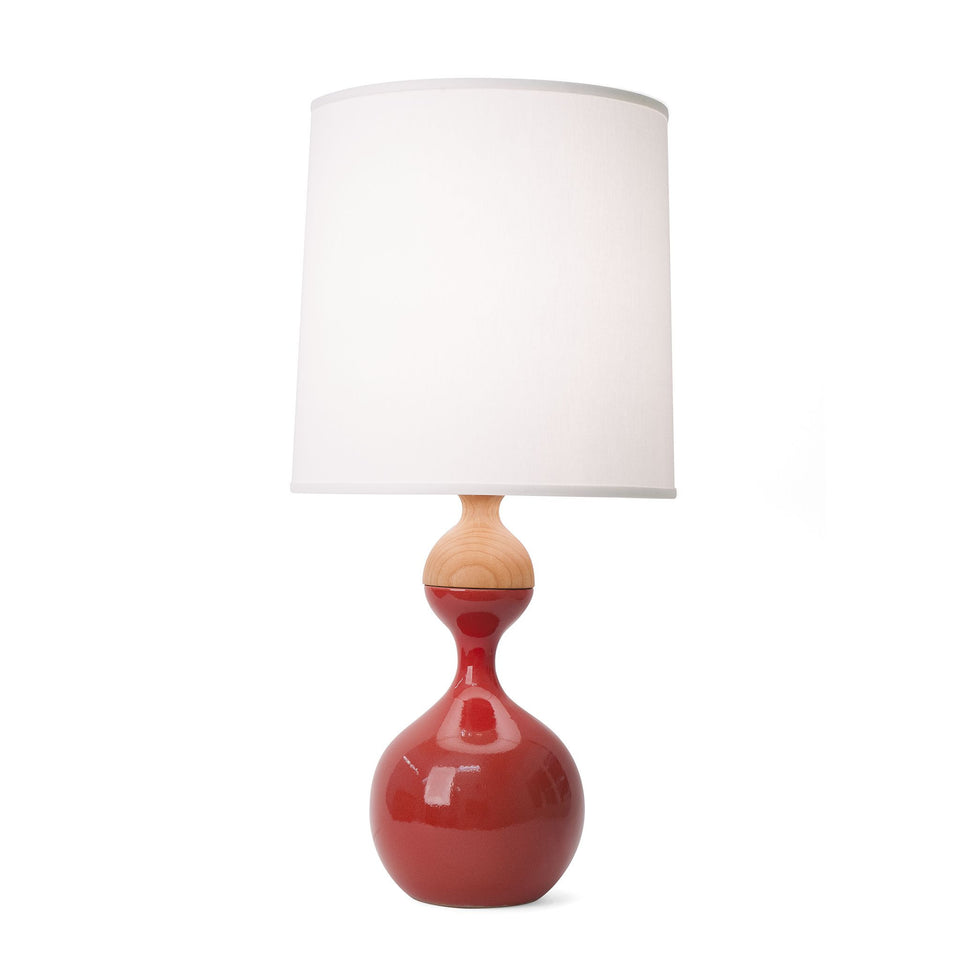J Schatz Medium Sumac Red Kuni Juu Table Lamp